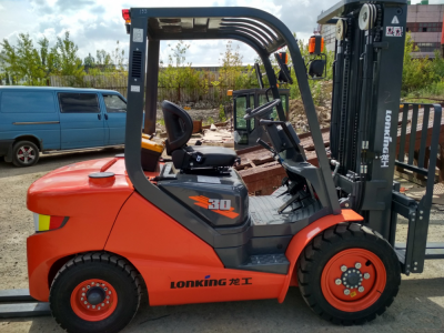 Three diesel forklift D3000 delivery to Marijampole,Lithuania
